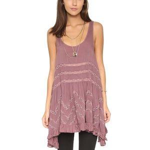 Free People Trapeze Lace Tunic Dress Size Large
